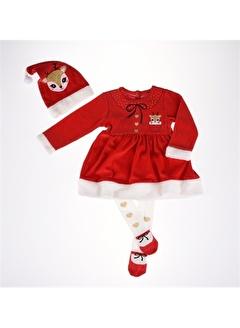Necix's Necix's Geyik Noel Aylık Elbise Kız Kış-Kırmızı Necix's Geyik Noel Aylık Elbise Kız Kış-Kırmızı